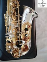 Top Best Quality Brand New Japan Yanagisawa A-WO37 Alto Saxophone Silver Gold Key Super Professional Sax With case Real photo