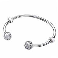 Wholesale sterling silver bracelet ends resale online - Original Sterling Silver Moments Open Pandora Bangle Pave Shimmering End Caps Bracelet Fit Bead Charm Diy Fine Jewelry