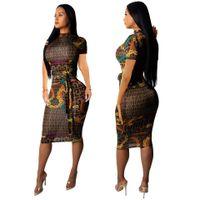 avrupa kadın moda elbisesi toptan satış-Mizaç patlama modelleri Avrupa ve Amerika Birleşik Devletleri sıcak seksi moda Ince kısa kollu kadın elbise etek kadın