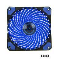 вентиляторы кулеров процессора оптовых-1шт ПК корпус компьютера вентилятор 120мм 33 LED Silent Fan радиатор охлаждения для корпусов компьютеров, процессорных кулеров и радиаторов Ultra Quiet