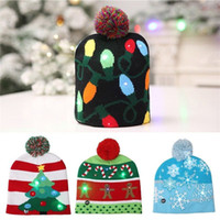 Wholesale led light a2 for sale - Group buy Kids Adult Colorful LED Light Christmas Hat Santa Claus Reindeer Snowman Xmas Gifts Cap Christmas Gifts A2