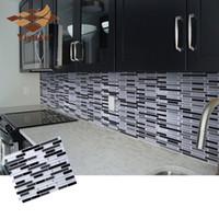 Wholesale tile backsplash for kitchens for sale - Group buy Mosaic Self Adhesive Tile Backsplash Wall Sticker Vinyl Bathroom Kitchen Home Decor DIY