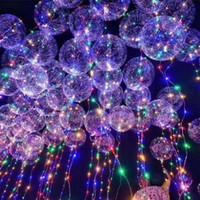 ingrosso stringa illumina i bambini-LED Light Bobo Ball Balloon con lampeggiante Wave Night Lights 3M String 20
