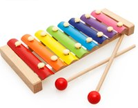 Wholesale knock wood toys for sale - Group buy Children s wooden octave hands knock on the piano xylophone boys and girls baby wooden music puzzle toy