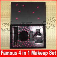 conjuntos de maquillaje superior al por mayor-Famosa marca nueva conjunto de maquillaje facial Top Secret Primer + Cojín de aire + Lápiz labial + Perfume 4pcs / set Make Up Cosmetce Set