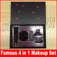 novas marcas perfume venda por atacado-Famosa Nova Marca Rosto Maquiagem Set Top Secret Primer + Almofada De Ar + Batom + Perfume 4 pçs / set Make Up Cosmetce Set
