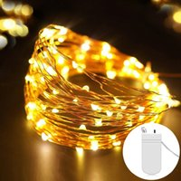 Wholesale battery operated garlands lights for sale - Group buy Fairy M M Battery Operated LED Copper Wire String Lights For Wedding Christmas Garland Festival Party Home Decoration lamp