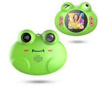efeitos de zoom venda por atacado-Projeto Bonito Sapo Dos Desenhos Animados Portátil Compacto Anti-Shake Recarregável com Jogos DIY Efeitos de Vídeo Crianças Câmera 8X Zoom Digital Câmera Flash Mic