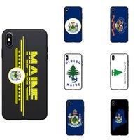 telefones dos eua venda por atacado-US bandeira dos EUA de Maine ME logo mapa Seal Tema TPU macio Phone Cases Cubra Logo Imagem Para iPhone 6 7 8 S XR X mais 11 Pro