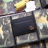 ingrosso borsa della scatola nera-Nuovo titolare di carta con scatola da donna in vera pelle nera portafoglio portafoglio donne borsa denaro Fermasoldi 436022