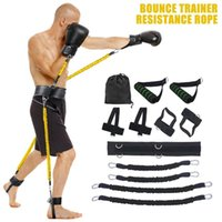 Wholesale strength fitness equipment resale online - Sports Fitness Resistance Bands Set for Leg and Arm Exercises Boxing Muay Thai Home Gym Bouncing Strength Training Equipment