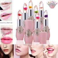 Wholesale bright lipstick for sale - Group buy Bright Waterproof Lip Gloss Flower Lipstick Temperature Change Color Jelly Lipstick Balm Moisturizer Transparents