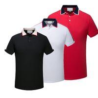 herren-luxus-t-shirt großhandel-2019 luxus europa paris patchwork männer t-shirt mode mens designer t-shirt lässig männer kleidung medusa baumwolle t luxus polo