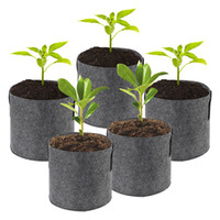 1 2 3 5 7 10 Gallon Plant Grow Bags Non-Woven Aeration Fabric Pots Pouch Root Container Breathable Degradable Self-Absorbent Pots VT0511