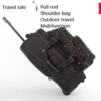 Wholesale rod travel bag resale online - Travel tale inch waterproof Pull rod Shoulder bag Outdoor travel Multifunction Luggage Spinner brand Suitcase