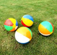 şişirilebilir su topları toptan satış-23 cm Şişme Plaj Havuz Oyuncaklar Su Topu Yaz Spor Oynamak oyuncak Balon Açık Havada Suda Oynamak Plaj Topu Eğlenceli Kum Oynamak
