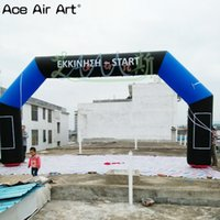 Wholesale discount inflatables resale online - 8x4m sport archway inflatable advertising archway with logo and removable banner boxes on discount