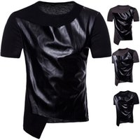 Wholesale mens cool casual shirts for sale - Group buy Mens Designer T Shitrs Spell Leather Cool O neck Short Sleeve Hip Hop Style Summer New Fashion Shirts Men