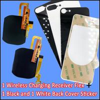 iphone şarj cihazı çıkartması toptan satış-IPhone 7 için 7 Artı Kablosuz Şarj alıcı flex cam arka filmi sticker ile geri konut değiştirmek gerek