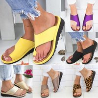Wholesale black feet slippers for sale - Group buy Women Slippers Flip Flops Platform Ladies Soft Thong Sandals Big Toe Foot Correction Orthopedic Bunion Corrector Home Shoes DHL WX9