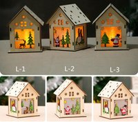 Wholesale christmas decorations resale online - New Led Light Wood House Christmas Tree Decorations For Home Hanging Ornaments Holiday Nice Xmas Gift Wedding