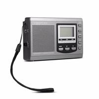 mejor receptor de radio al por mayor-Mini radio portátil DSP FM / MW / SW Receptor Radio de emergencia con reloj despertador digital Antena de radio FM Receptor FM Envío gratis 5