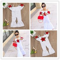 Wholesale baby outfits jumpsuits resale online - Pudcoco Girl Jumpsuits Y Kids Baby Girls Off shoulder Floral Romper Jumpsuits Trousers Outfits