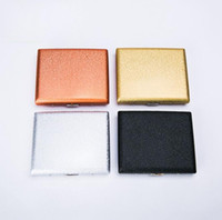 Wholesale decorating boxes resale online - Newest Luxurious Metal Frosted Cigarette Cases Shell Casing Storage Box High Quality Exclusive Design Portable Decorate Hot Cake DHL