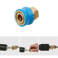 Wholesale water swivel adapters resale online - New Pressure Washer Adapter Set Durable Copper Connector Car Tube Gun Water Pipe Fittings Nozzle Swivel Joint