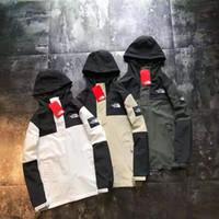 remendos do exército do vintage venda por atacado-Jacket NORTH Roupa Nova Outono Casaco Tactical Outwear respirável homens Nylon Luz Windbreaker NA4HK03J