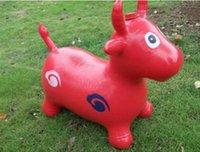 divertidos inflables animales al por mayor-Horse Hopper Salto inflable Espesamiento del caballo Space Hopper Ride on Bouncy Animal Sports Toy Diversión al aire libre Juguetes deportivos
