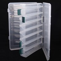 Wholesale trulinoya fishing lures online - Trulinoya Double Sided Portable Plastic Fishing Box16Compartments27 cm Lure Hook Baits Pesca Accessory Fishing Tool Tackle