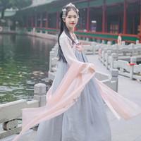 chinesische trachten frauen großhandel-Neue Ankunft Frauen Chinese Traditional Hanfu Kostüm Alte Tang Dynastie Cosplay Kleidung Dame Oriental Fairy Dancwear DWY1919