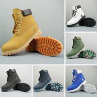 bottes compensées à la cheville achat en gros de-2020 hommes concepteur bottes Timberland femmes pour le marronnier d'hiver triple rouge marine noir blanc la mode des hommes chaussures de luxe chaussures en plein air