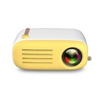 películas de teatro al por mayor-Proyector portátil original AAO YG-200 LED AV USB SD HDMI Video Movie Game Home Party Theatre Proyector de video