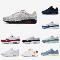 zapatillas max 87 al por mayor-Nike air max 1 airmax 1 shoes Tokyo Maze Bred 1s hombres mujeres zapatos 1 aniversario royal Patch Atomic Teal Parra Puerto Rico 87 air hombre zapatillas deportivas 36-45