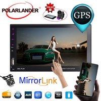 Wholesale android for screen car resale online - 7 quot Touch Mirror Link Screen Din Car Radio Bluetooth Hands Free FM TF USB Rear View Camera Mirror For Android Phone languages