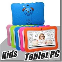 """ingrosso cerchio da 12 pollici-Tablet PC per bambini DHL 7 """"Tablet Quad Quad per bambini Android 4.4 Allwinner A33 google player wifi + grande altoparlante + custodia protettiva 5 pezzi"""