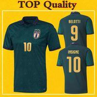 xxxl futbol topları toptan satış-2020 Italia İtalya Jersey Üçüncü Futbol Formalar INSIGNE Jorginho Bonucci Bernardeschi 19 20 Maillot Italie TOP Kalite Futbol Gömlek