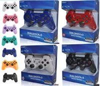 juegos bluetooth android al por mayor-DHL Controlador inalámbrico de juegos Bluetooth para PlayStation 3 PS3 Controlador de juegos Gamepad Joystick para juegos de video con Android Retail Box