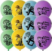 balon gemisi toptan satış-Ücretsiz Kargo Fortnite balon Haşhaş lateks Balonlar Globos Doğum Günü Parti Malzemeleri Çocuk Oyuncakları Hediyeler Evlilik Süslemeleri