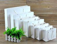 ручная подарочная сумка для ручек оптовых-Мешок малой белой бумаги kraft упаковывая, розовый мешок подарка одежды бумажный с ручками,Малая Черная хозяйственная сумка