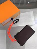 meilleur portefeuille achat en gros de-Meilleure qualité lettre brune classique en cuir véritable hommes portefeuille court avec la boîte porte-clés de trellis classique les femmes portefeuille 13,5-7,0 cm M44487
