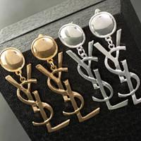 berühmte ohrringe mode großhandel-Hohe Qualität Berühmte Marke Design Schmuck Mode 316L Edelstahl Stil Luxus Vergoldet Ohrringe Für Mädchen Frauen