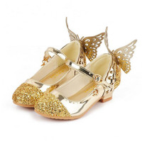Wholesale sandals for girls medium for sale - Group buy Baby Princess Girls Shoes Sandals For Kids Glitter Butterfly Low Heel Children Shoes Girls Party Enfant meisjes schoenen GA200