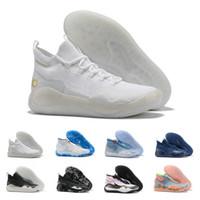 tênis de basquete elites venda por atacado-Qualitys Mvp Kevin Durant KD 12 Anniversary 12S Universidade XII Oreo Shoes Men Basquete EUA Elite KD12 Esporte Tênis