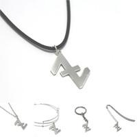 Wholesale charms hooks for sale - Group buy wolf god charm necklace Wolf s Hook Emblem Amulet Talisman bangle keyring bookmark