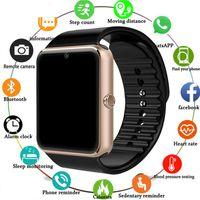 ingrosso telefoni di grande schermo-2019 Smartwatch GT08 Smart Watch Donna Uomo Relogio Phone Call Big Battery SD Card Touch Screen per Xiaomi Huawei iPhone Watch
