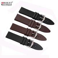 pulseiras de silicone preto venda por atacado-23 milímetros preta pulseira de silicone marrom para esportes pulseiras impermeáveis dos homens Chopin assistir cinta com pulseira fivela de aço inoxidável
