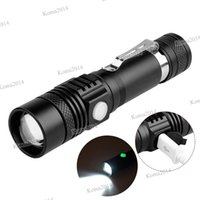 USB Rechargeable Flashlight Mini T6 Glare 3 Modes Waterproof Zoomable Portable Torch Flashlight Lantern 18650 Battery Powered